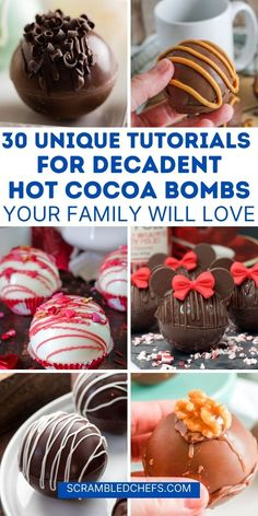 Hot Chocolate Coffee, Hot Chocolate Gifts, Christmas Hot Chocolate, Chocolate Bomb, Hot Chocolate Bars, Hot Chocolate Recipes, Hot Cocoa Recipe, Cocoa Recipes, Candy Recipes