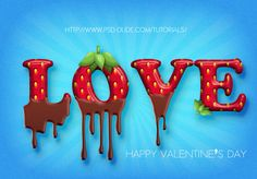 Strawberry and Chocolate Text in Photoshop - Photoshop tutorial | PSDDude