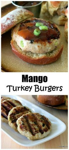 Mango Turkey Burgers - this is the most flavorful recipe and I always have a stash of these in the freezer for an easy lunch or dinner!