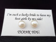 SALE Pearl Bridesmaid Earrings Bridesmaid by Jenalynscreations