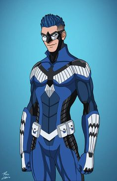 BlueJay OC commission by phil-cho on DeviantArt Superhero Characters, Fantasy Characters, Cartoon Characters, Comic Character, Character Concept, Character Design, League Of Heroes, Marvel Heroes, Batman Costumes