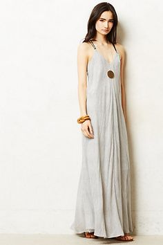 pinstriped maxi dress