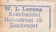 Boekhandel W. J. Lorenz, Zandvoort