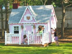This WILL be my husbands next big project for the girls! A custom made play house! :)