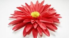 Dahlia paper flower diy making tutorial. Paper flowers easy for children...