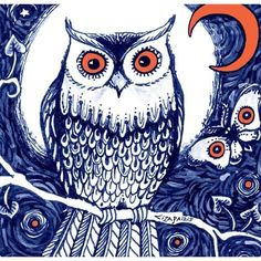 OWL NIGHT Owl Picture by redwhisper on Etsy, $15.00