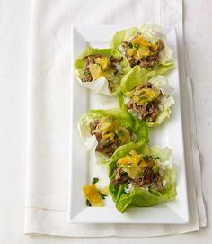 Slow Cooker Balsamic-Ginger Chicken Lettuce Cups