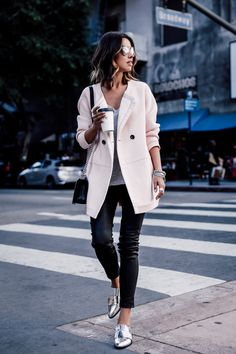 cashmere blazer with casual outfit