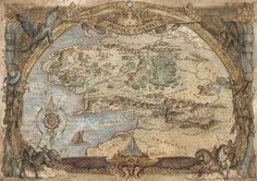Map of Middle Earth.