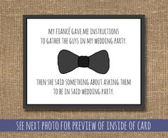 For Lorne <3 Will You Be My Man of Honor / Best Man / by RockCandieDesigns, $4.25