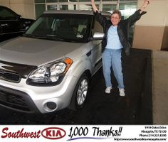Happy Anniversary to Sofia Zweiban on your 2013 #Kia #Soul from Ivan Navarrete and everyone at Southwest Kia Mesquite! #Anniversary