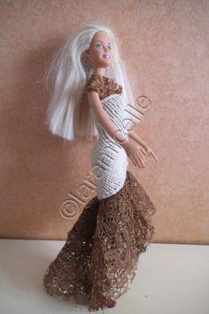 Free barbie tutorial: evening dress sheath and lace wedding dress or