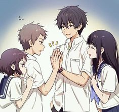 Safebooru is a anime and manga picture search engine, images are being updated hourly. Anime Couples Manga, Cute Anime Couples, Manga Anime, Anime Art, Kawaii Anime, Kyoto Animation, Hyouka, Character Poses, Anime Love Couple