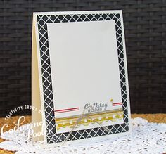 Handmade quick and easy birthday card by Catherine Pooler using the Borderline set from Verve.  #vervestamps