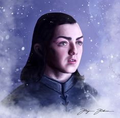 I made this illustration of Arya Stark with Adobe Photoshop. I absolutely love this character and Maisie Williams does such a good job in the role. What a badass! :)
