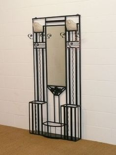 Art Deco Hall Stand, c1900. Very fine example.