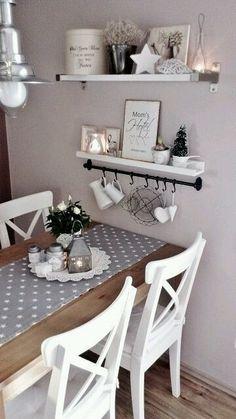 Romantische Küche, pastellfarbene Wand is part of Romantic kitchen - Romantic Kitchen, Shabby Chic Kitchen, Kitchen Decor, Kitchen Tables, Dining Tables, Diy Kitchen, Kitchen Ideas, Dining Rooms, Kitchen Interior