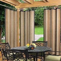 Amazing Buy Easy Glide Indoor/Outdoor Bamboo Ring Top Panel In Tan From Bed Bath U0026  Beyond