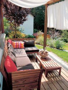 Daybed outdoor selber bauen  Outdoor-Lounge selber bauen Garten,Holz,Möbel,Sommer,Bau ...