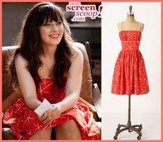Zooey Deschanel Dresses on New Girl #newgirl Jess Day Jessica Day fashion