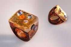 Anello artistico stile medievale lavorato a di SPhandmadejewelry