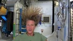 First, go to Mars and pick up some water. Then...   How to Wash Your Hair in Space  http://www.histreasuresandpresence.com/2014/10/how-to-wash-your-hair-in-space.html