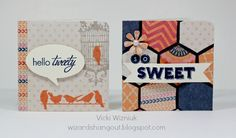 3x3 boxed card set with 6 cards by Vicki Wizniuk using CTMH Claire paper - next 2 cards (see other 4 cards and the box in 3 other pins on this board)