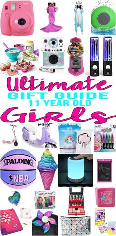 BEST Gifts 11 Year Old Girls! Top gift ideas that 11 yr old girls will love! Find presents & gift suggestions for a girls 11th birthday, Christmas or just because. Cool gifts for tween girls on their eleventh bday. Wondering what to buy an 11 year old for her birthday? We have you covered - get popular gift ideas - from makeup to electronics to sports & more - find the best gift ideas! Amazing products for daughters, grandkid, niece, friend or best friend. Tween, teen, pre teen, teenage…