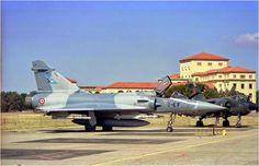 French Armée de l'Air Dassault Mirage 2000 and Mirage F1 on base aérienne 701 de Salon-de-Provence.