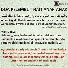 Doa to soften a child's heart. Last ayat of surah Al-imran Pray Quotes, Quran Quotes Inspirational, Islamic Love Quotes, Muslim Quotes, Hijrah Islam, Doa Islam, Reminder Quotes, Self Reminder, Muslim Religion