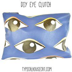 DIY Kenzo Eye Clutch | Typical House Cat
