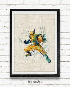 Carcajou aquarelle Print Marvel Super-héros par NeighborArts