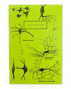 Vintage Neuron Lime Green Screen Print by CognitiveSurplus on Etsy