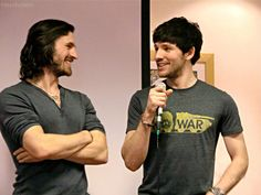 Eion Macken and Colin Morgan! #merlin