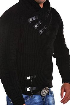 Tazzio Knit Sweater with Buckles 15-462 [Black, S] Tazzio https://www.amazon.com/dp/B015UFMFU2/ref=cm_sw_r_pi_dp_x_8mHHyb7R9PHGQ