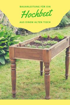 In addition to the classic raised beds, there are also the so-called table beds, which are . - In addition to the classic raised beds, there are also the so-called table beds, which extend the c - Raised Planter, Raised Garden Beds, Raised Beds, Garden Drawing, Succulents In Containers, Natural Garden, Diy Garden Decor, Balcony Decoration, Garden Styles