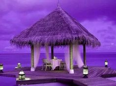 *Purple ~ a day at the beach! Wow