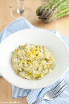 Risotto ultrarapido con asparagi, formaggio di capra girgentana e limone - yumm! *w*