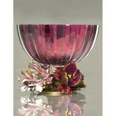 Gabriela Floral Base Glass Bowl - Bouquet