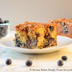 Classic Coffeecake filled with blueberries and a center swirl of brown sugar cinnamon. Then topped with a brown sugar crumb topping. Perfect for Breakfast, Brunch Or Dessert.