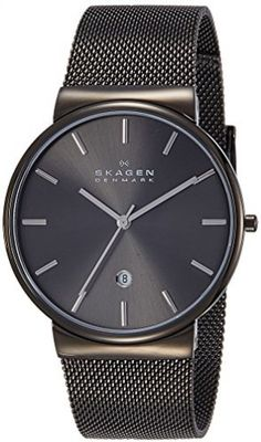 Watch Skagen Men's SKW6108 Ancher Gray Stainless Steel Quartz With Mesh Band  #Skagen