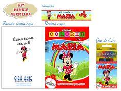 Kit Colorir Pocket C/ Giz De Cera Minnie | Giga Arte | Elo7