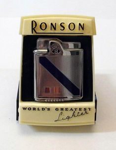 """Vintage Ronson Cigarette Lighter, """"World's Greatest Lighter"""", Made in U.S.A."""