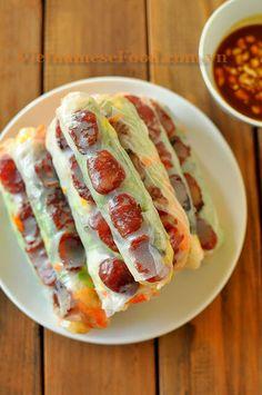 Jicama Fresh Rolls Recipe / Bo Bia Recipe (Vietnamese Food)