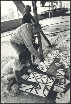 Oscar Niemeyer | brasil | pattern tiles, love the combining of the tiles in different directions to create a unique pattern.