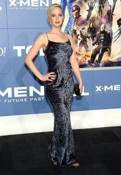 Jennifer Lawrence gives off a little edge in this daring dress at the 'X-Men: Days Of Future Past' World Premiere! #xmen #redcarpet