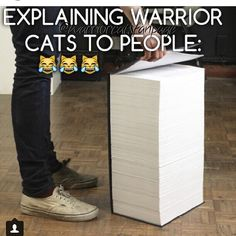 Explaining Warrior Cats to people: