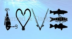 Fishing Love SVG, cutting files for use with Cricut Design space, and other basic cutting machines! This download contains the following: 1 SVG,