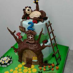 Masha e o Urso!!! Bolo by @rayyanhareb #cakes #cake #mashaeourso #mashaandthebear #amazingcakes ...