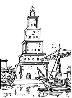 simple lighthouse Printable Lighthouse Coloring Pages Lighthouse